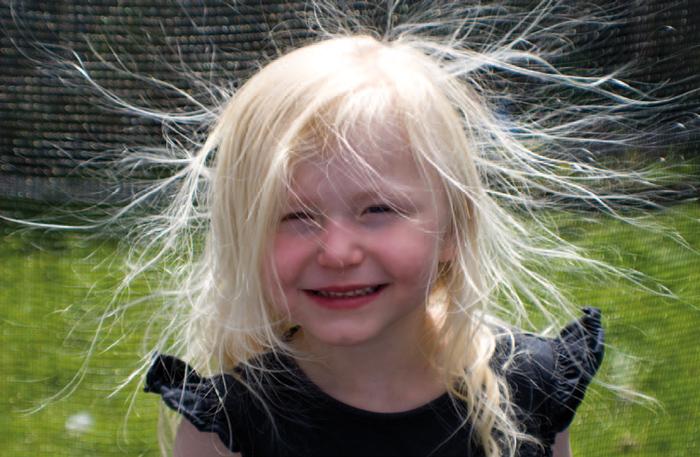elektrische haare entladen